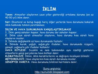 İKLİM