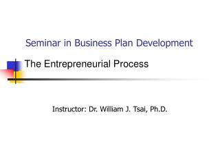 Seminar in Business Plan Development