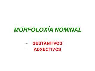 MORFOLOX � A  NOMINAL