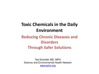 Toxic Chemicals in the Daily Environment