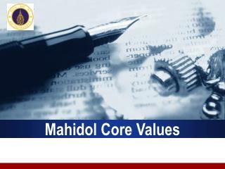 Mahidol Core Values