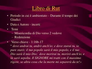 Libro di Rut