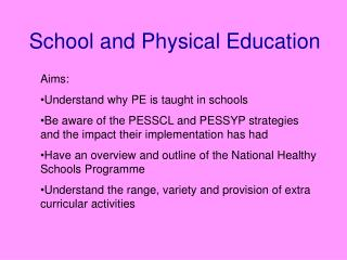 School and Physical Education