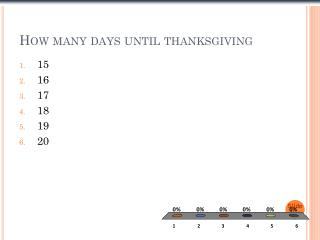 How many days until thanksgiving