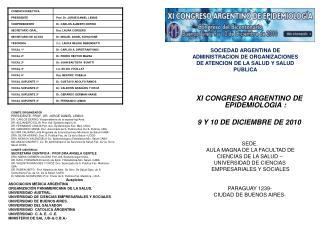 SOCIEDAD ARGENTINA DE ADMINISTRACION DE ORGANIZACIONES DE ATENCION DE LA SALUD Y SALUD PUBLICA