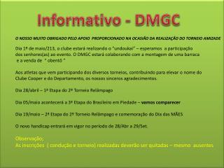 Informativo - DMGC