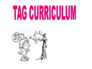 TAG CURRICULUM