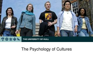 The Psychology of Cultures