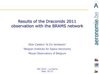 Results  of the  Draconids  2011  observation with  the BRAMS  network