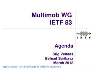 Agenda  Stig Venaas Behcet Sarikaya March 2012