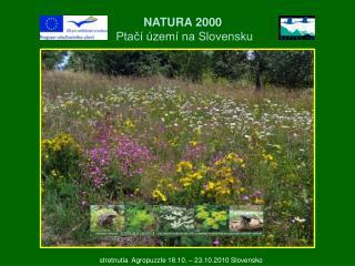 NATURA 2000  Ptačí území na Slovensku