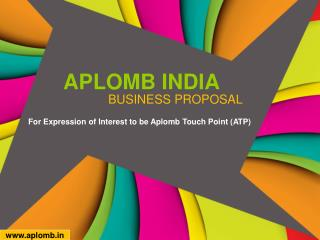 Aplomb Touch Point- Education Franchise, Franchise