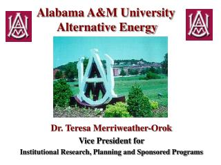 Alabama A&M University  Alternative Energy