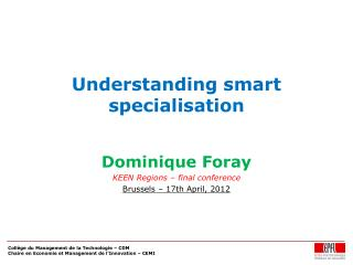 Understanding smart specialisation