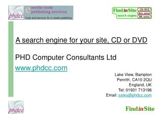 A search engine for your site, CD or DVD