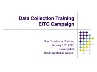 Data Collection Training EITC Campaign