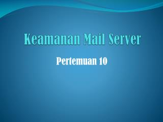 Keamanan Mail Server