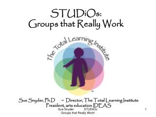 STUDiOs:   Groups that Really Work