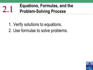 Equations, Formulas, and the Problem-Solving Process