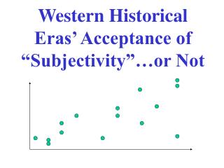 "Western Historical Eras' Acceptance of ""Subjectivity""…or Not"