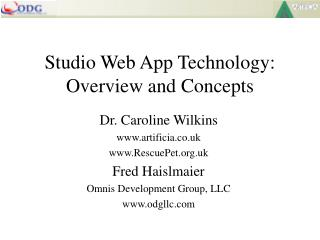 Studio Web App Technology: Overview and Concepts