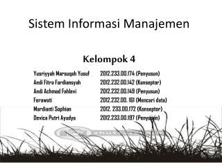 Sistem I nformasi Manajemen