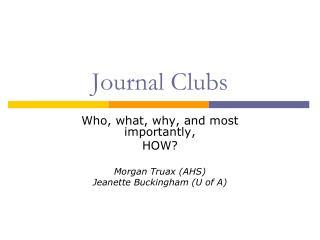 Journal Clubs