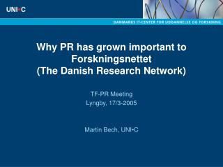 Why PR has grown important to Forskningsnettet The Danish Research Network