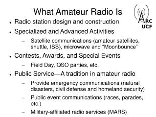 What Amateur Radio Is