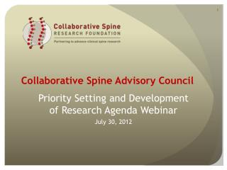 Collaborative Spine Advisory Council