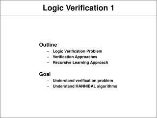 Logic Verification 1