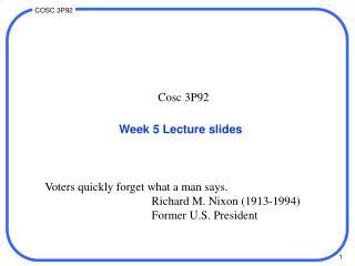 Week 5 Lecture slides