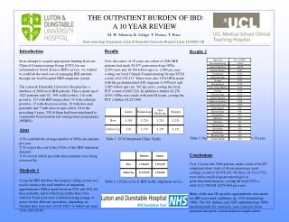 THE OUTPATIENT BURDEN OF IBD:  A 10 YEAR REVIEW