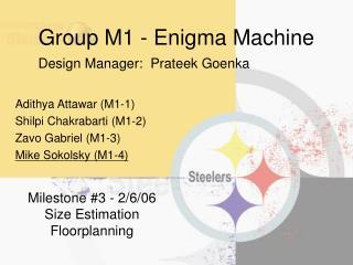 Group M1 - Enigma Machine