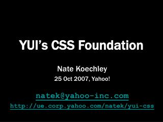 YUI's CSS Foundation