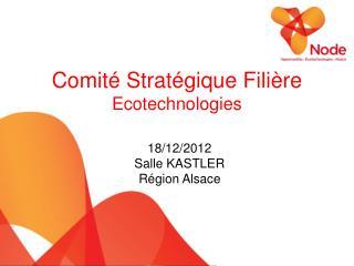 Comité Stratégique Filière Ecotechnologies