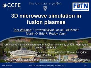 3D microwave simulation in fusion plasmas