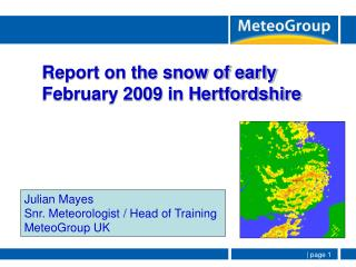 Report on the snow of early  February 2009 in Hertfordshire