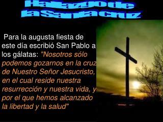 Hallazgo de  la Santa cruz