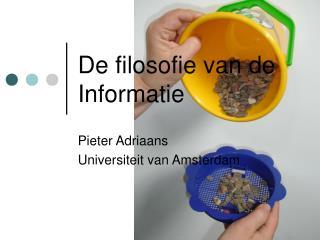 De filosofie van de Informatie