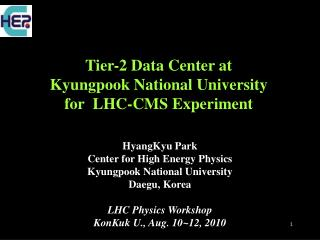 Tier-2 Data Center at  Kyungpook National University for  LHC-CMS Experiment