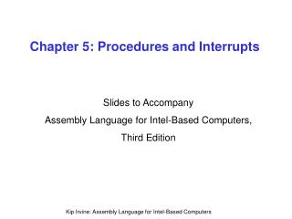 Chapter 5: Procedures and Interrupts