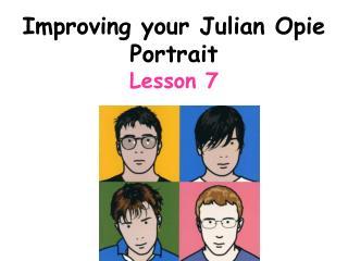 Improving your Julian Opie Portrait  Lesson 7