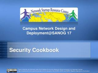 Security Cookbook