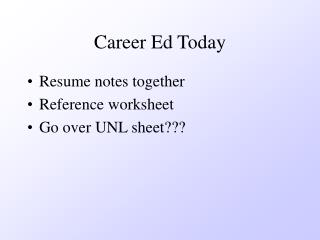 Career Ed Today