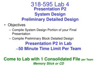 Presentation P2 System Design Preliminary Detailed Design
