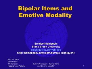 Bipolar Items and Emotive Modality