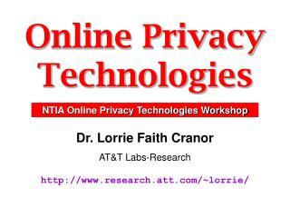 Online Privacy Technologies