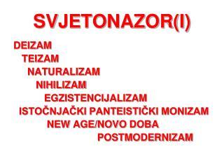 SVJETONAZOR(I)