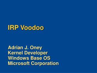 IRP Voodoo